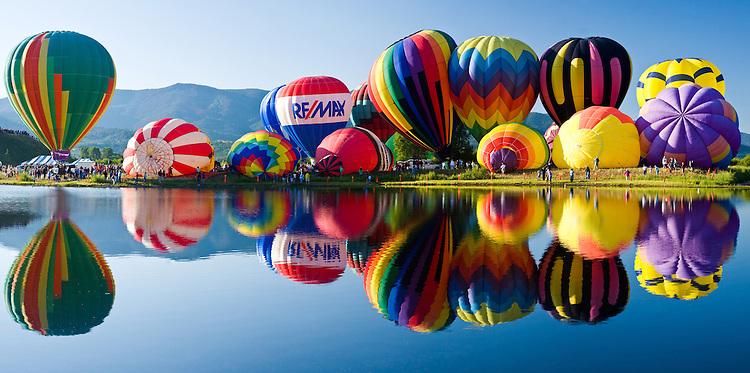 Balloon rodeo over Bald Eagle lake
