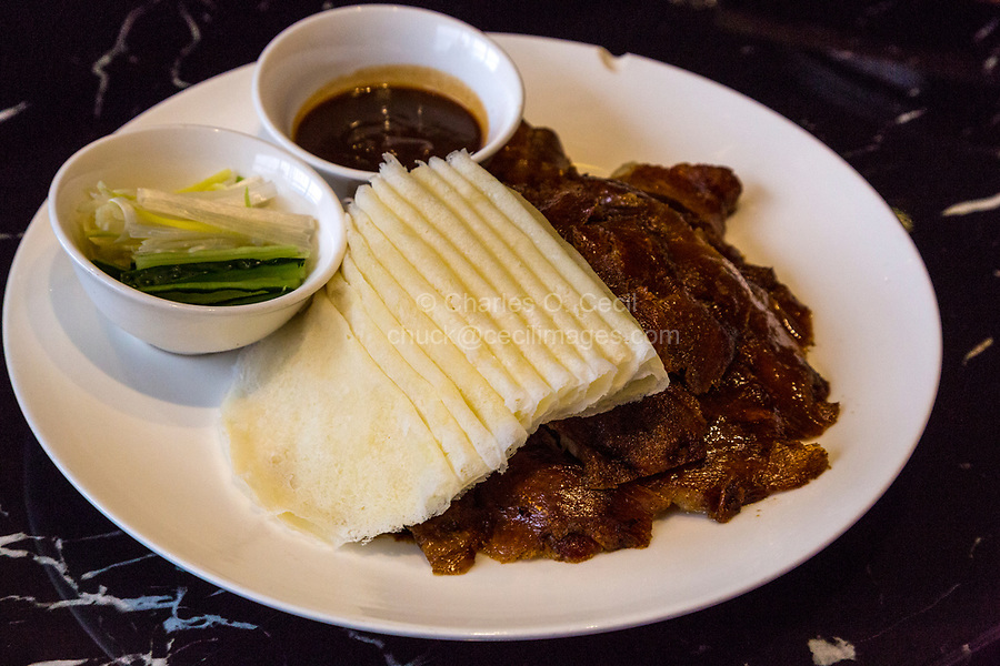 Guizhou, China.  Lunch of Duck and Crepes.