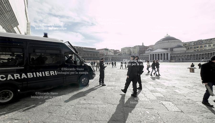 - NAPOLI 26 FEB - Europa League Napoli Trabzonspor  città controllata dalle forze dell'ordine
