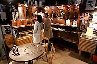L'interno del laboratorio di gioielli in vetro di Davide Penso a Murano, laguna di Venezia.<br /> Interior of Davide Penso's glass jewelry laboratory shop in Murano, Venice's Lagoon.<br /> UPDATE IMAGES PRESS/Riccardo De Luca