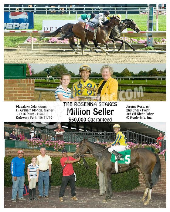 Million Seller winning The Rosenna Stakes at Delaware Park on 10/11/10