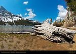 Tenaya Lake and Tenaya Peak, Fisheye, Tioga Pass, Yosemite National Park