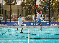 Netherlands, September 5,  2020, Amsterdam, Padel Dam, NK Padel, National Padel Championships,  Men's doubles : Nikander Damianos (NED) and Moos Sporken (NED) (R)<br /> Photo: Henk Koster/tennisimages.com