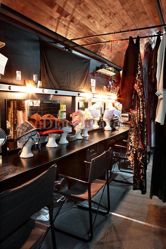 dressing room on a train wagon