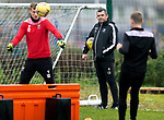 St Johnstone Training…09.11.20<br />Manager Callum Davidson pictured watching a game of 'football tennis' during training at McDiarmid Park ahead of tomorrow night's Betfred Cup game against Dundee United.<br />Picture by Graeme Hart.<br />Copyright Perthshire Picture Agency<br />Tel: 01738 623350  Mobile: 07990 594431