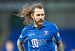 St Johnstone v Livingston…..07.03.20   McDiarmid Park  SPFL<br />A windy day at McDiarmid Park as can be seen through Stevie May<br />Picture by Graeme Hart.<br />Copyright Perthshire Picture Agency<br />Tel: 01738 623350  Mobile: 07990 594431