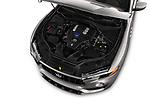 Car stock 2017 Maserati Levante Base 5 Door SUV engine high angle detail view