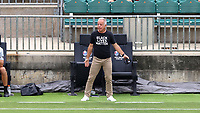 CARY, NC - AUGUST 01: Dave Sarachan coaches from the sideline during a game between Birmingham Legion FC and North Carolina FC at Sahlen's Stadium at WakeMed Soccer Park on August 01, 2020 in Cary, North Carolina.