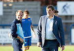 Montrose v St Johnstone….16.07.19      Links Park     Betfred Cup       <br />Tommy Wright and Alex Cleland pictured during the warm up<br />Picture by Graeme Hart. <br />Copyright Perthshire Picture Agency<br />Tel: 01738 623350  Mobile: 07990 594431