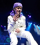 "Justin Bieber performs live at the Wells Fargo Center during his ""My World"" tour in Philadelphia, Pennsylvania on Nov. 14, 2010..Copyright EML/Rockinexposures.com."