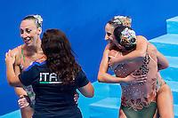 Team Italy ITA<br /> Synchro Women's Team Free Final Free Routine - Kazan Arena<br /> Day08 31/07/2015<br /> XVI FINA World Championships Aquatics Swimming<br /> Kazan Tatarstan RUS July 24 - Aug. 9 2015 <br /> Photo A.Masini/Deepbluemedia/Insidefoto