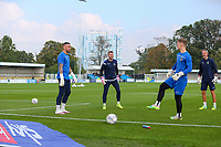 9th October 2021;  VBS Community Stadium, Sutton, London; EFL League 2 football, Sutton United versus Port Vale; Sutton United goalkeepers warming up.