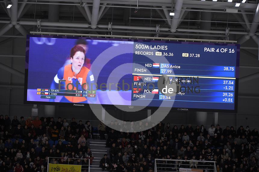OLYMPIC GAMES: PYEONGCHANG: 18-02-2018, Gangneung Oval, Long Track, 500m Ladies, Jorien ter Mors (NED), ©photo Martin de Jong