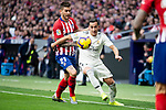 Lucas Hernandez of Atletico de Madrid and Lucas Vazquez of Real Madrid during La Liga match between Atletico de Madrid and Real Madrid at Wanda Metropolitano in Madrid Spain. February 09, 2018. (ALTERPHOTOS/Borja B.Hojas)