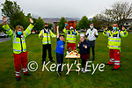Adam and Grace Roche from Ashgrove, Tralee celebrating their 9th birthday as they receive a Birthday Salute from members of the Tralee Red Cross. Front l to r: Adam and Grace Roche. Back l to r: Majella Forde, Darragh McGovern, Nathan Comerford (Red Fred), Gda Eilish Cronin, Majella Forde, Sean Lyons and Steve O'Connor