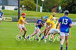 Kerry's Paudie O'Connor attempts to get through the meath defence in the National hurling league in Austin Stack Park on Sunday