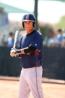 Gio Urshela - Cleveland Indians - 2010 Instructional League.Photo by:  Bill Mitchell/Four Seam Images..