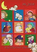 Interlitho, Soledad, CHRISTMAS CHILDREN, naive, paintings, kids, lambs, moon(KL2318,#XK#) Weihnachten, Navidad, illustrations, pinturas