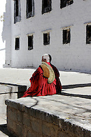 Old Monk at the Sera Monastery in Lhasa, Tibet