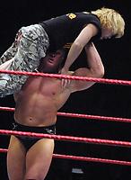 Brock Lesnar Spike Dudley 2002                                                                              By John Barrett/PHOTOlink