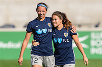 Bridgeview, IL - Sunday September 03, 2017: Ashley Hatch, Sam Witteman during a regular season National Women's Soccer League (NWSL) match between the Chicago Red Stars and the North Carolina Courage at Toyota Park. The Red Stars won 2-1.