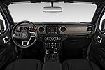 Stock photo of straight dashboard view of 2020 JEEP Gladiator Sport-S 4 Door Pick-up Dashboard