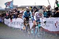 Evie Richards (GBR) & Ellen Van Loy (BEL/Telenet Baloise Lions)<br /> <br /> Women's Elite Race<br /> UCI 2020 Cyclocross World Championships<br /> Dübendorf / Switzerland<br /> <br /> ©kramon