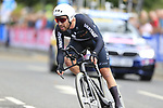 Patrick Bevin (NZL) in action during the Men Elite Individual Time Trial of the UCI World Championships 2019 running 54km from Northallerton to Harrogate, England. 25th September 2019.<br /> Picture: Eoin Clarke | Cyclefile<br /> <br /> All photos usage must carry mandatory copyright credit (© Cyclefile | Eoin Clarke)