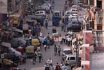 Street scene in the Paharganj district of  in New Delhi, India.