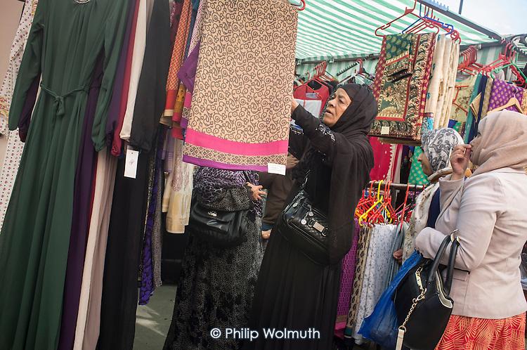 Whitechapel market in east London serves the largest Muslim community in the UK