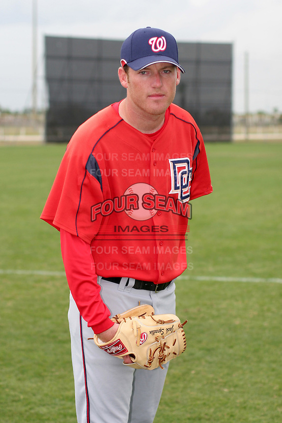 Washington Nationals minor leaguer Jack Spradlin during Spring Training at the Carl Barger Training Complex on March 20, 2007 in Melbourne, Florida.  (Mike Janes/Four Seam Images)