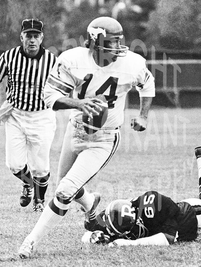 Peter Liske Calgary Stampeders quarterback. Copyright photograph Scott Grant