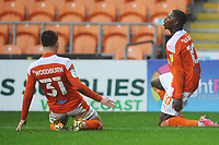 Blackpool's Sullay Kaikai celebrates scoring the opening goal <br /> <br /> Photographer Kevin Barnes/CameraSport<br /> <br /> The EFL Sky Bet League One - Blackpool v Milton Keynes Dons - Saturday 24 October 2020 - Bloomfield Road - Blackpool<br /> <br /> World Copyright © 2020 CameraSport. All rights reserved. 43 Linden Ave. Countesthorpe. Leicester. England. LE8 5PG - Tel: +44 (0) 116 277 4147 - admin@camerasport.com - www.camerasport.com