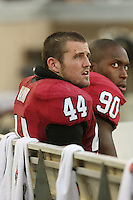 3 November 2007: Pat Maynor and Udeme Udofia during Stanford's 27-9 loss to the University of Washington at Stanford Stadium in Stanford, CA.