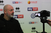 Keith Hill (Manager of Rochdale AFC) is interviewed after the Sky Bet League 1 match between Rochdale and Plymouth Argyle at Spotland Stadium, Rochdale, England on 15 December 2018. Photo by James  Gill / PRiME Media Images.