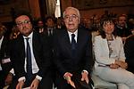 MARIO ORFEO, CESARE GERONZI E RENATA POLVERINI<br /> PREMIO GUIDO CARLI - SECONDA EDIZIONE<br /> PALAZZO DI MONTECITORIO - SALA DELLA REGINA ROMA 2011