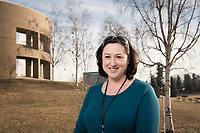 UAA Alum Rebecca Barker, MSW '17, BA ANTH '13, is Loussac Library's new full-time social worker.