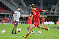 WASHINGTON, D.C. - OCTOBER 11: Josh Sargent #19 of the United States warming up during their Nations League match versus Cuba at Audi Field, on October 11, 2019 in Washington D.C.