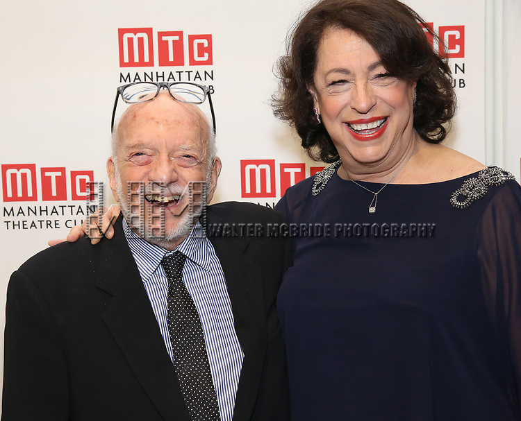 Hal Prince and Lynne Meadow attend the 2017 Manhattan Theatre Club Fall Benefit honoring Hal Prince on October 23, 2017 at 583 Park Avenue in New York City.