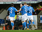 St Johnstone v Ross County....29.11.14   Scottish Cup 4th Round<br /> James McFadden celebrates his goal with Brian Easton, Simon Lappin and Michael O'Halloran<br /> Picture by Graeme Hart.<br /> Copyright Perthshire Picture Agency<br /> Tel: 01738 623350  Mobile: 07990 594431