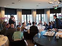 10-01-13,Tennis,  Schipluiden, Restaurant Zwetheul, Persconferentie 40e ABNAMROWTT, Toernooi Directeur Richard Krajicek in gesprek met de pers.
