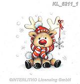 CHRISTMAS ANIMALS, WEIHNACHTEN TIERE, NAVIDAD ANIMALES, paintings+++++,KL6211/1,#xa# ,sticker,stickers