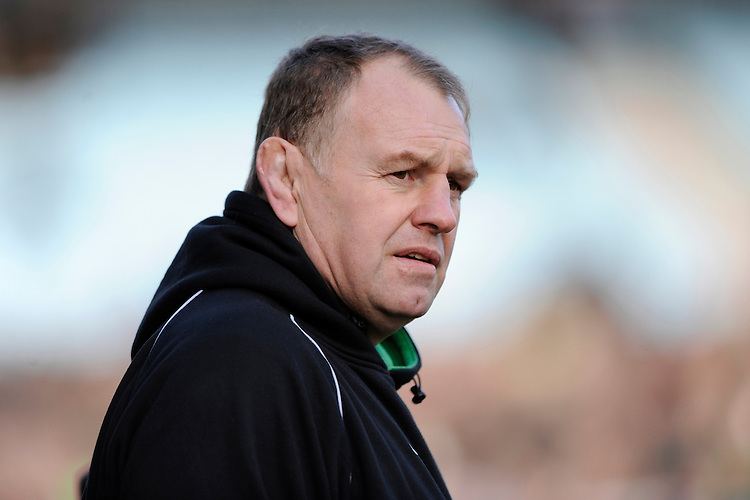 Dean Richards, Newcastle Falcons Director of Rugby, looks on during the Aviva Premiership match between Harlequins and Newcastle Falcons at the Twickenham Stoop on Saturday 15th February 2014 (Photo by Rob Munro)