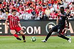 Bayern Munich Forward Robert Lewandowski (L) fights for the ball with AC Milan Defender Cristian Zapata (R) during the 2017 International Champions Cup China  match between FC Bayern and AC Milan at Universiade Sports Centre Stadium on July 22, 2017 in Shenzhen, China. Photo by Marcio Rodrigo Machado / Power Sport Images