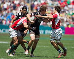 Sam Dickson. Hong Kong Sevens, 28 March 2015. NZ drew with Portugal 24-24. Photo: Marc Weakley