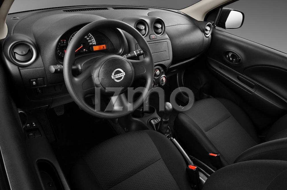 High angle dashboard view of a 2011 Nissan Micra Visia 5 Door Micro Car