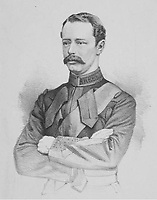 BNPS.co.uk (01202 558833)<br /> Pic: Pen&SwordBooks/BNPS<br /> <br /> Pictured: Henry Drummond-Moray.<br /> <br /> A historian believes he has uncovered a previously unknown participant in the first ever FA Cup final.<br /> <br /> James Bancroft is convinced Lieutenant George Barker represented the Royal Engineers in the 1872 final against the Wanderers.<br /> <br /> However, he is not listed in any official records or football books written about the showpiece occasion.<br /> <br /> Mr Bancroft said he has found newspaper reports with Lt Barker on the team-sheet and he appears in full kit in the Royal Engineers post-match team photo.<br /> <br /> He outlines his theory in his new book, The Early Years of the FA Cup, which charts the rise and fall of the Royal Engineers, the only military team to win the trophy.