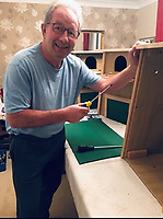 He hoots, he scores.. Former football hard man Jimmy Case  making bird boxes to help barn owls.