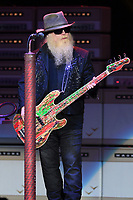 WEST PALM BEACH, FL - OCTOBER 20: ZZ Top perform during the 50th Anniversary Tour performs at The Coral Sky Amphitheatre on October 20, 2019 in West Palm Beach Florida. Credit: mpi04/MediaPunch