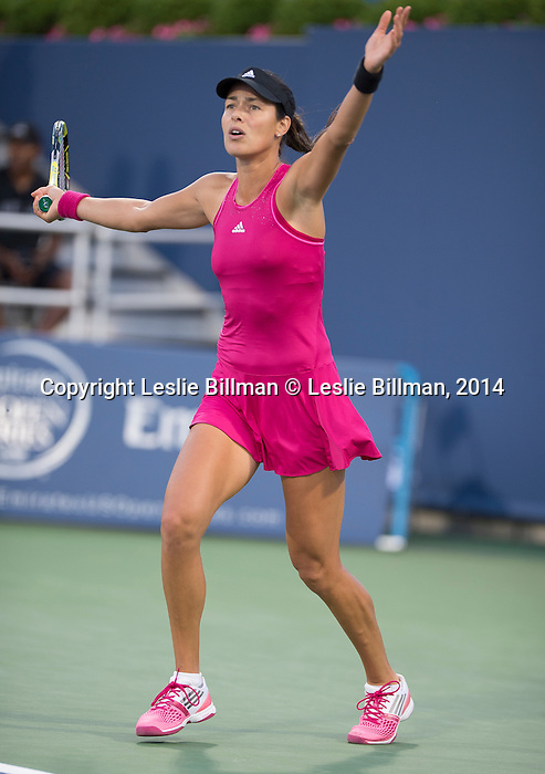 Ana Ivanovic (SRB) 6-4, 6-0 defeats Christina McHale (USA) at the Western & Southern Open in Mason, OH on August 13, 2014.